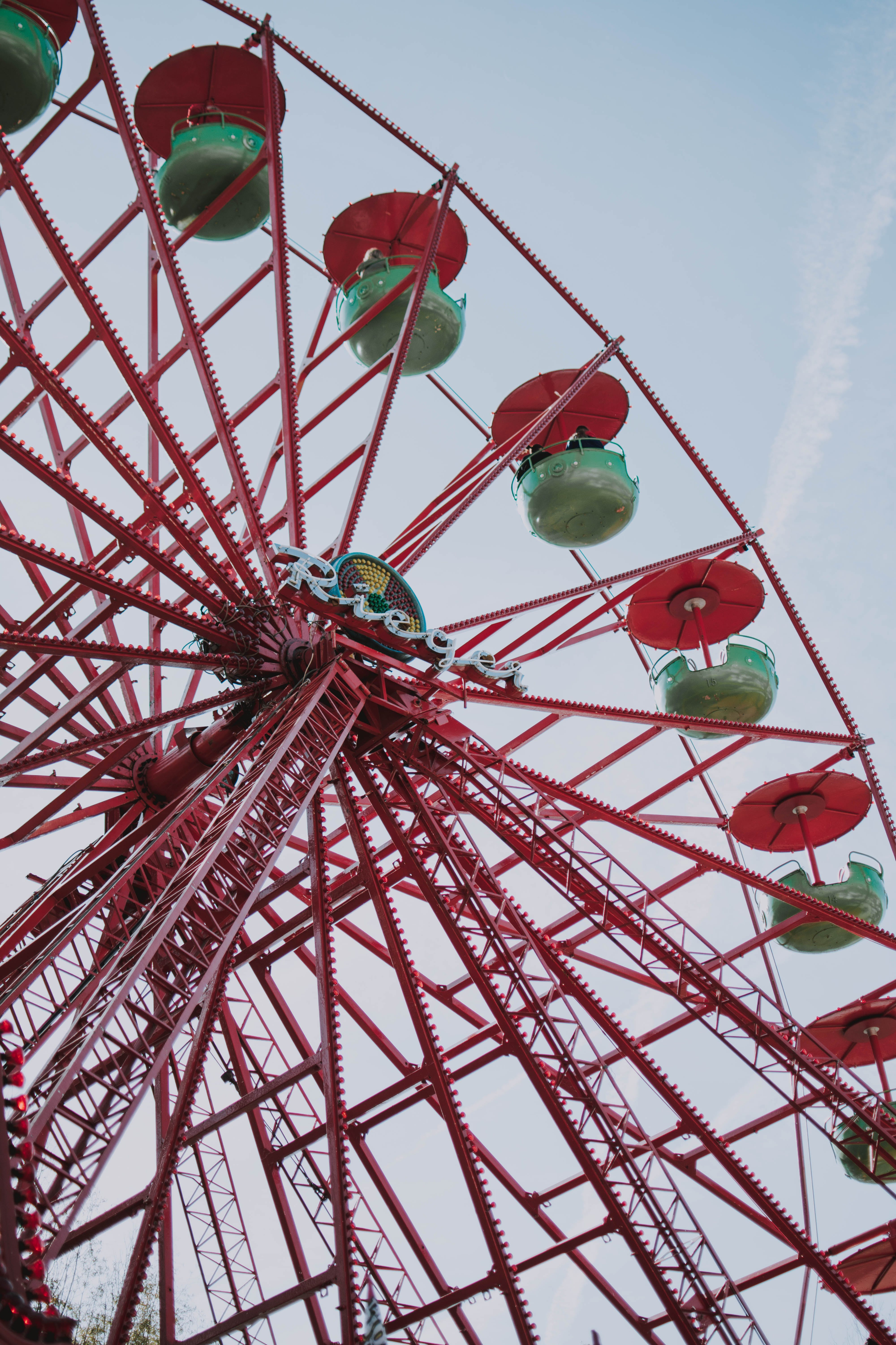 Close up photo of a Ferris Wheel