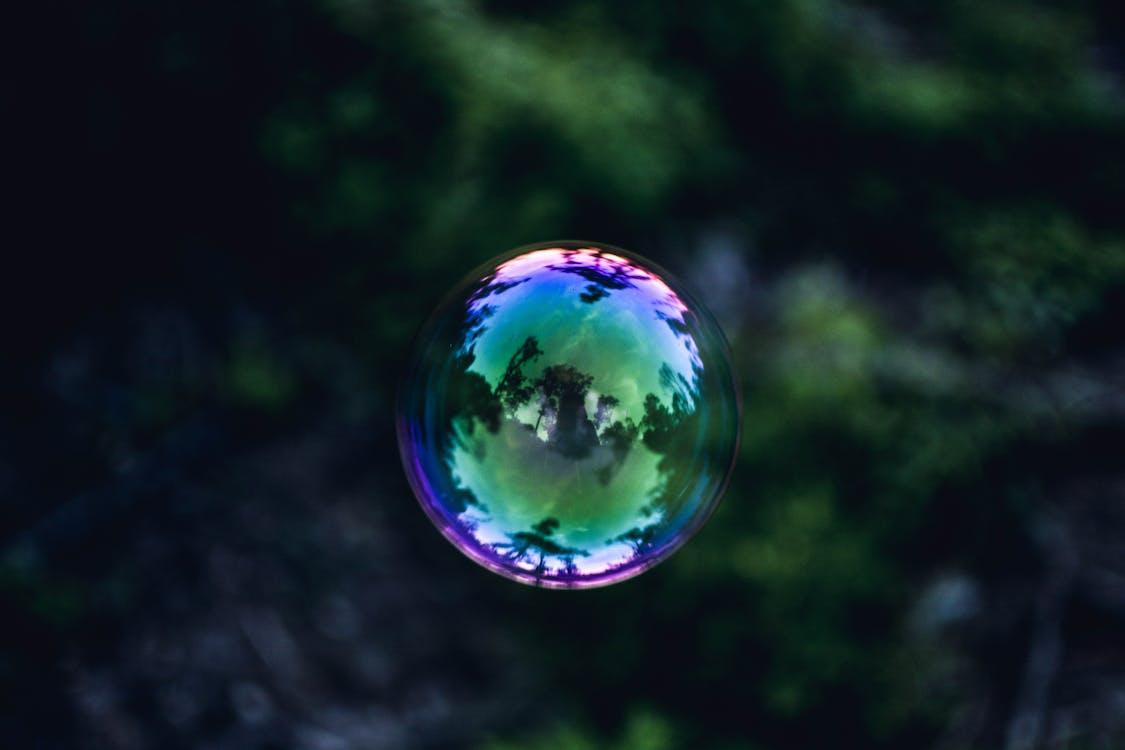 barvy, bublina, krajina