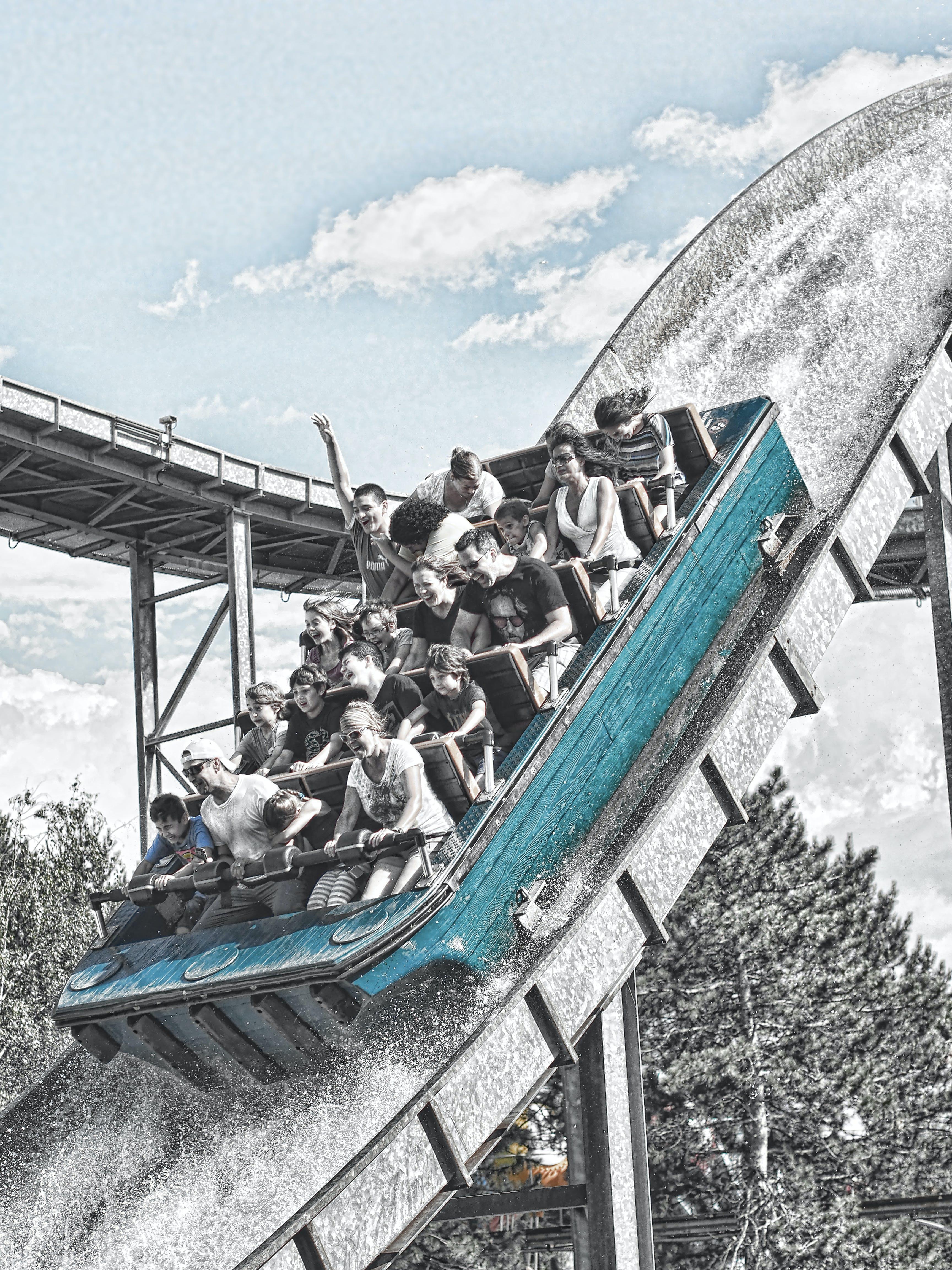 Free stock photo of amusement, amusement park, funny, happy family
