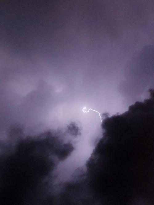 Gratis lagerfoto af aften, aftenhimmel, glimt, himmel