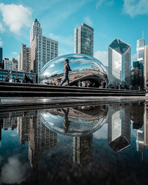 architektur, chicago, chicago-bohne