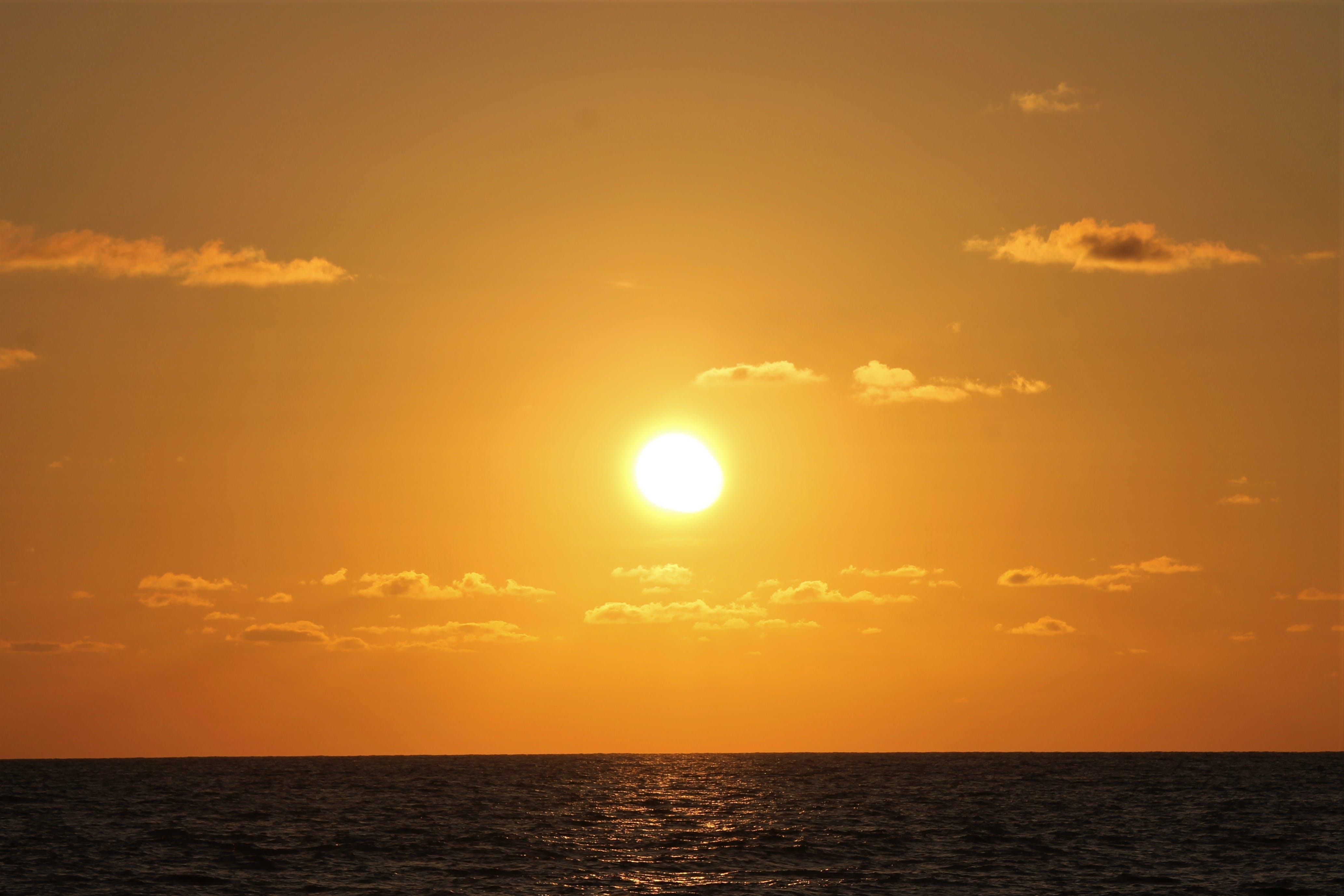 Free stock photo of evening sun, golden sun, sea, sun