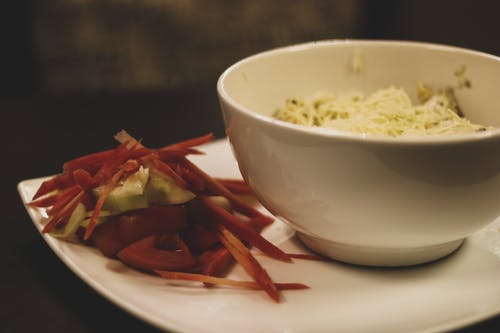 Kostnadsfri bild av matt, sallad, sallad med pasta, street cafe