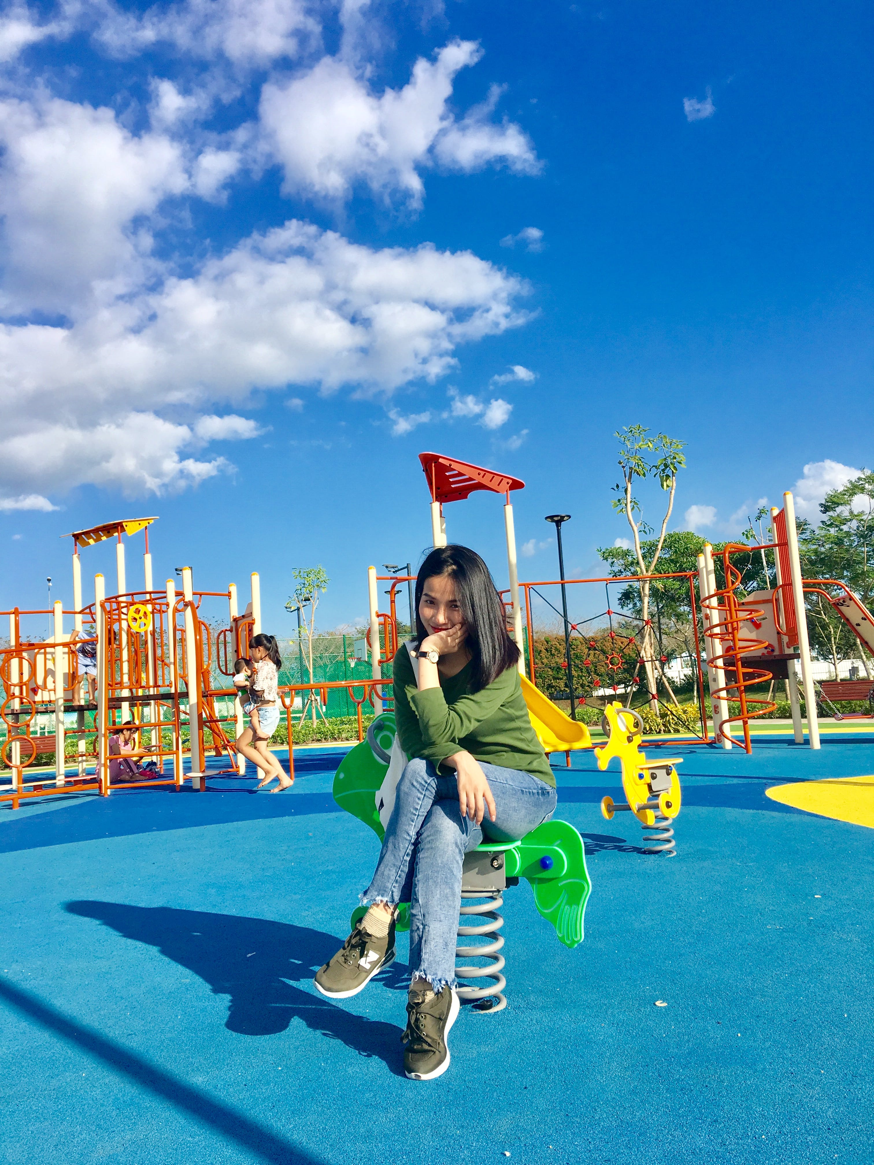 Woman At The Playground