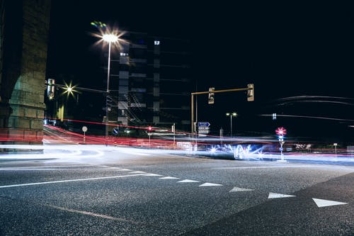 Long Exposure Shot Of Cars On The Road