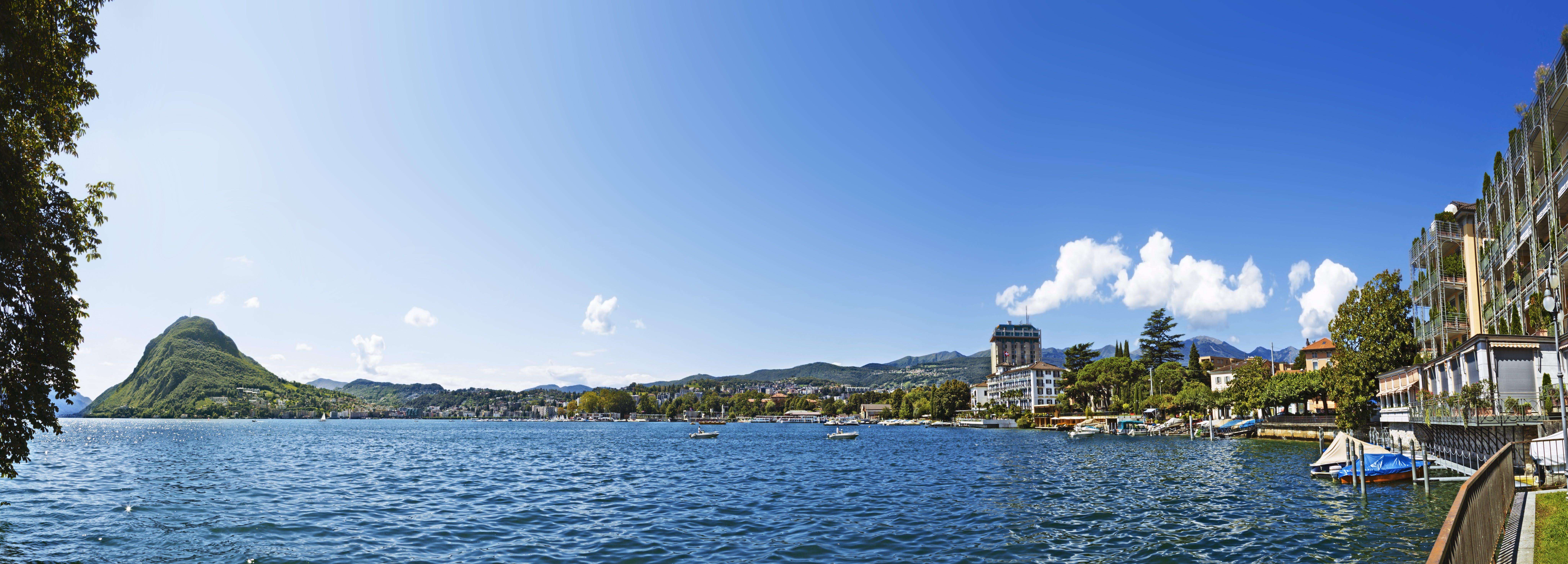 Panoramic Shot Of Lake