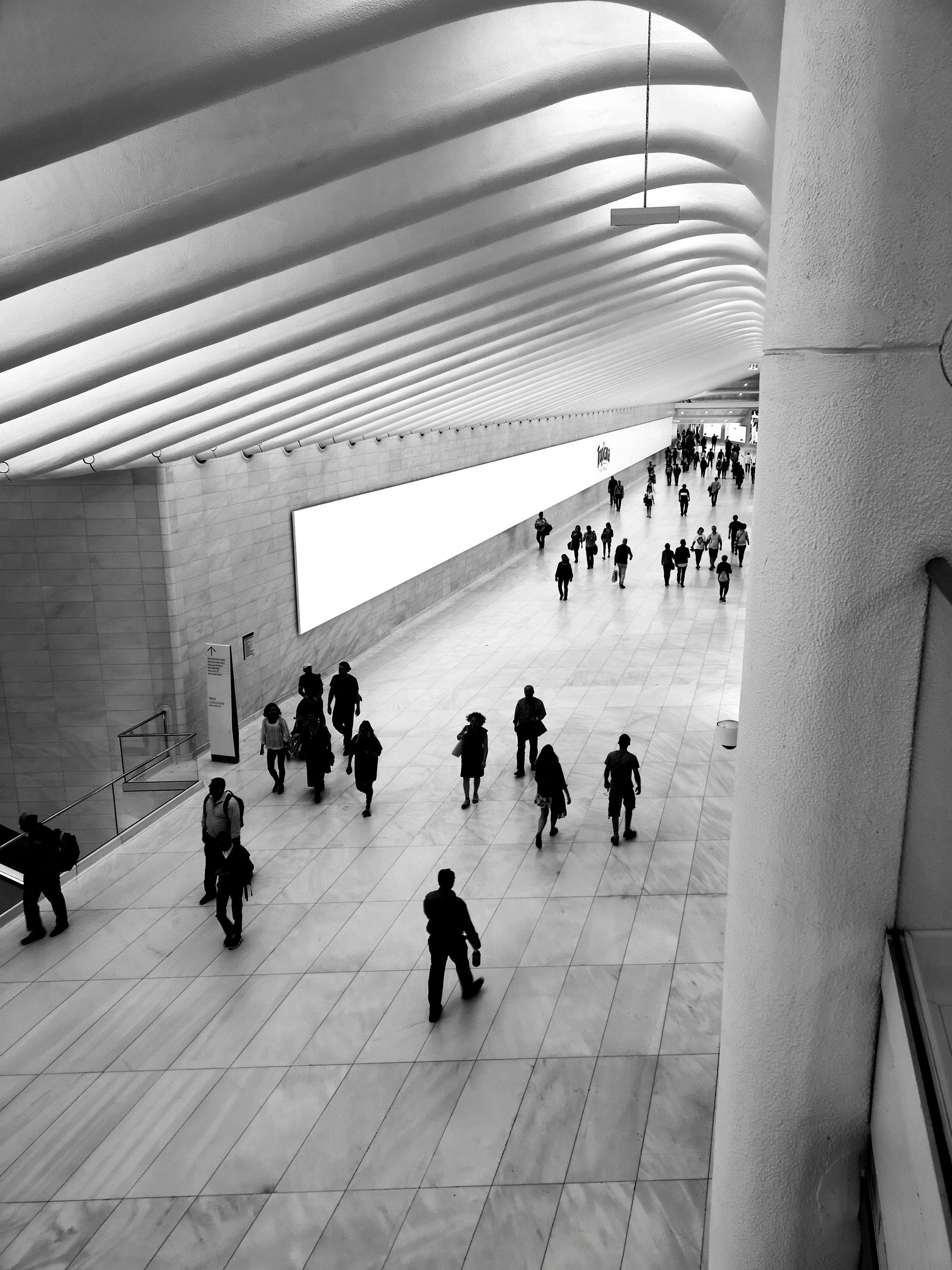 Foto profissional grátis de andando, arquitetura, arquitetura contemporânea, construção