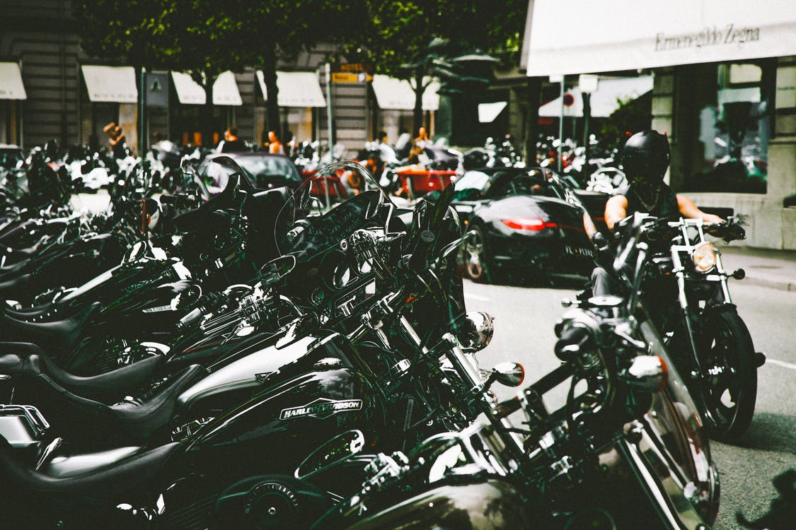 Parked Motorcycles