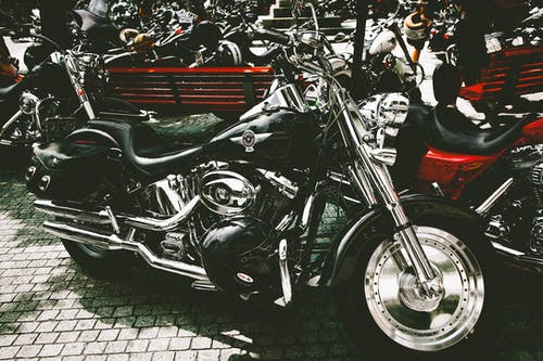 Black And Silver Touring Motorcycle