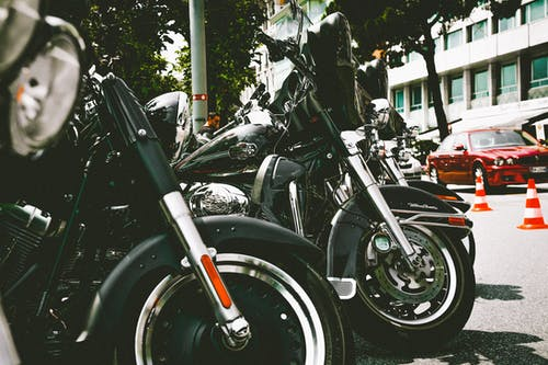 Photo of Parked Motorcycles