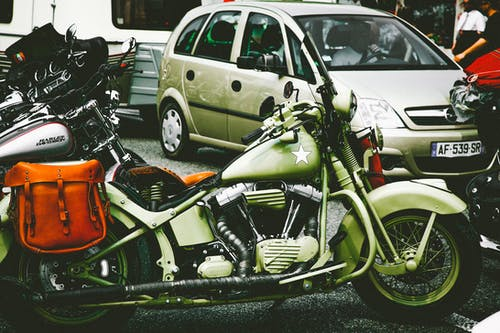 Green Touring Motorcycle