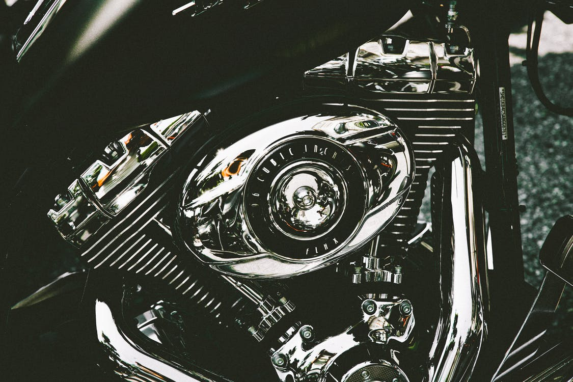 Close-Up Photo of Motorcycle Engine