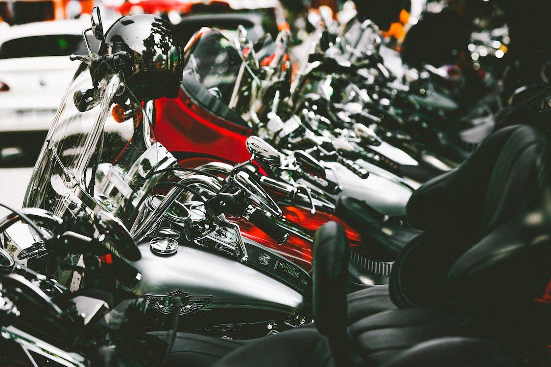 Black and Red Yamaha Naked Motorcycle