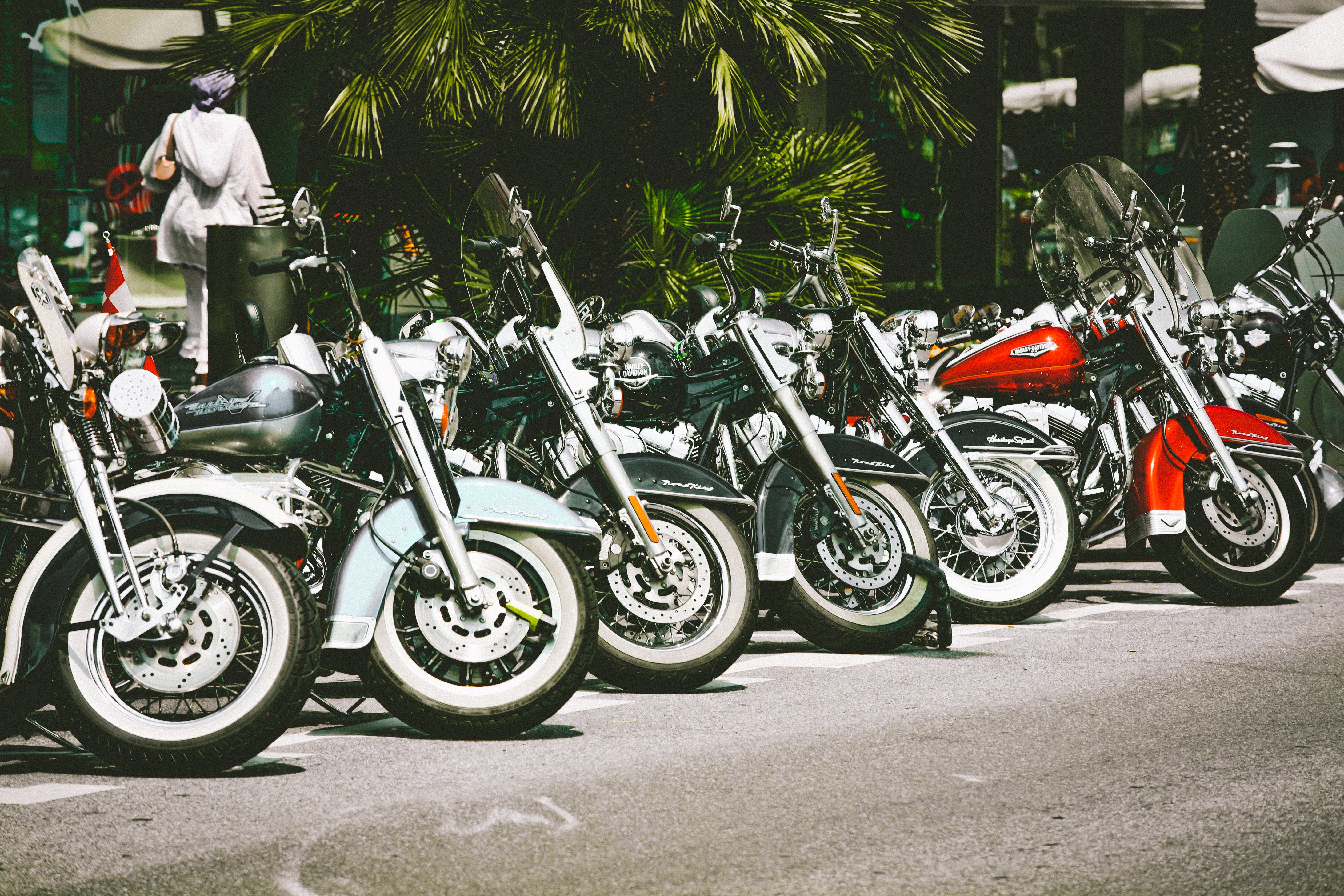 Photo of Motorcycles Parked on Street