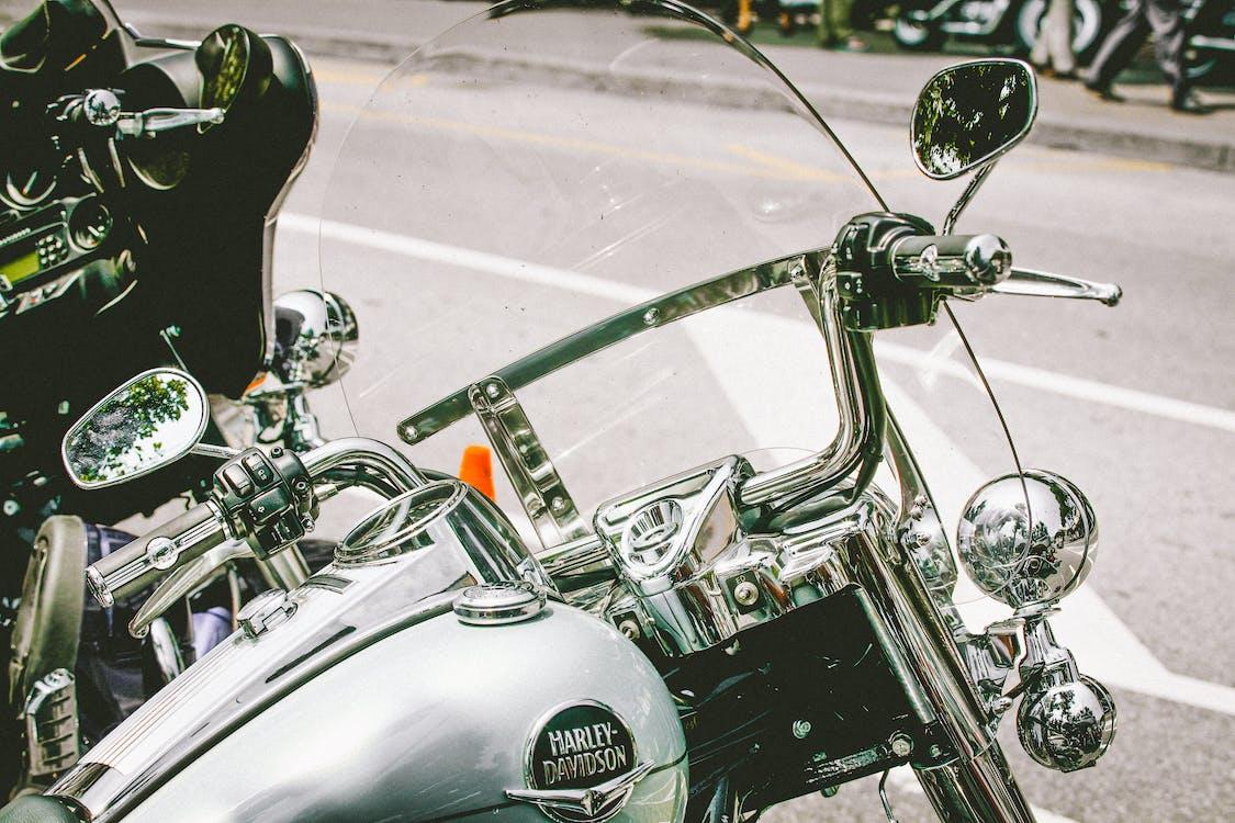 Close-Up Photo of Harley Davidson Motorcycle