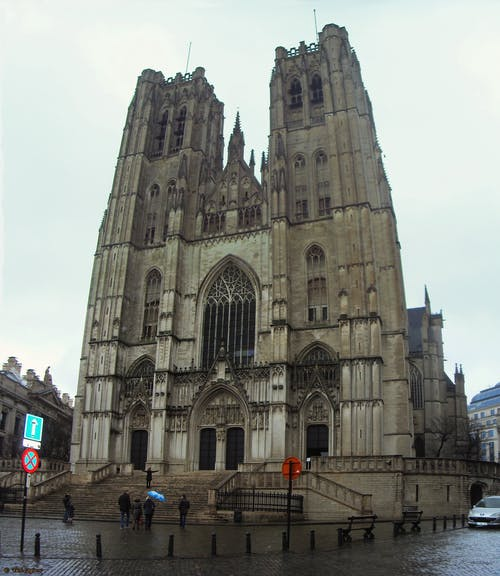 Free stock photo of Belgium, brussels, Cathedral of Sant Michael and Saint Gudula, Co-Cathédrale collégiale des Ss-Michel et Gudule