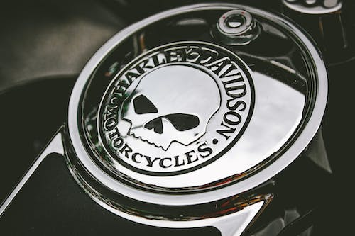 Close-Up Photo of Harley Davidson Emblem