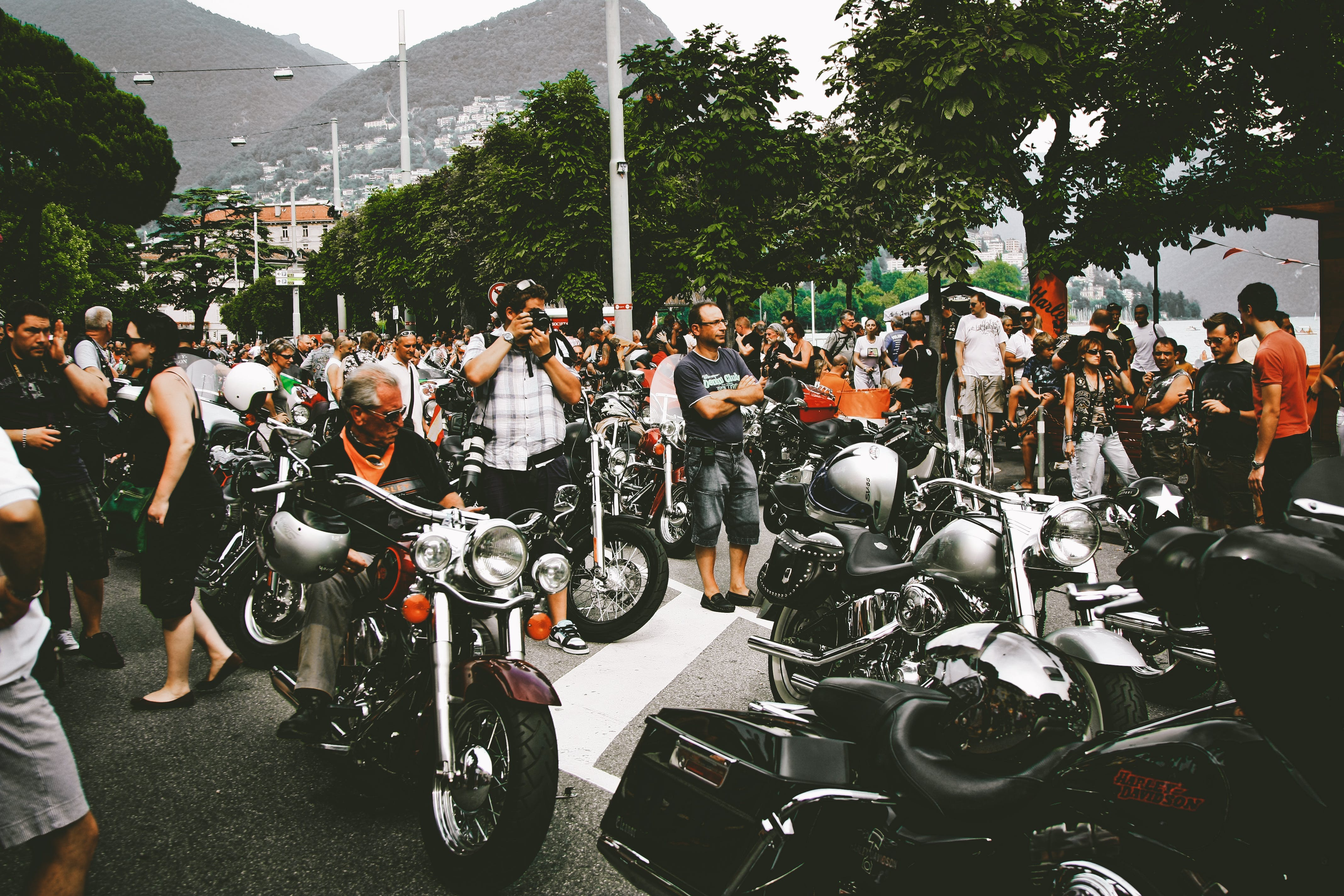 Photo of People in Motorcycle Show