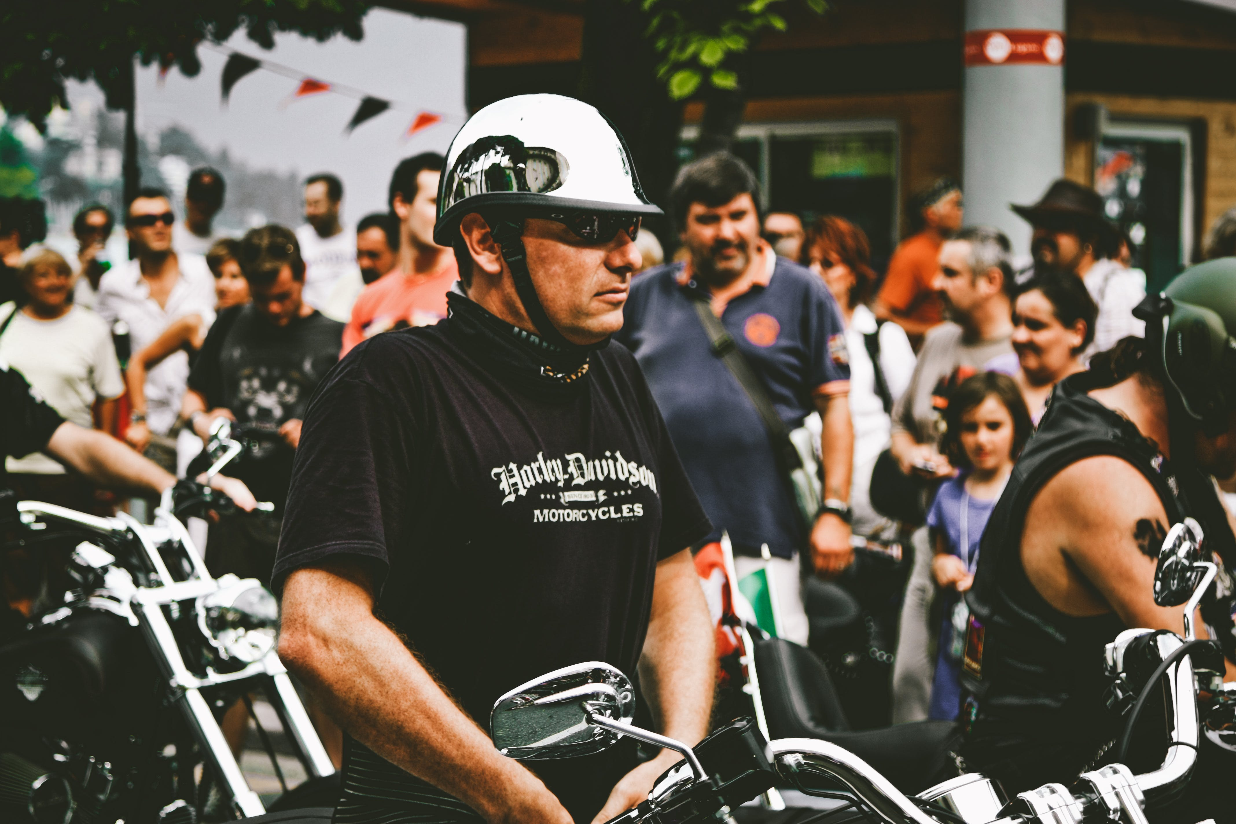 bestuurder, biker, concentratie