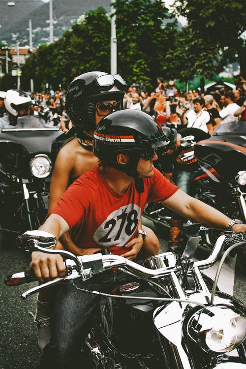 Photo of People Riding Motorbikes