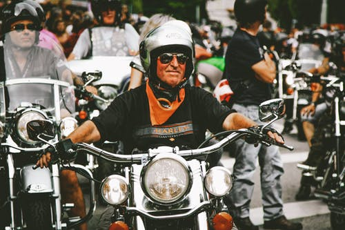 Photo of Man Driving Motorbike