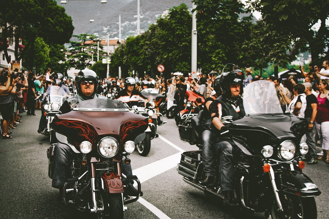 Black and Red Touring Motorcycle