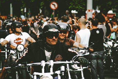 Fotobanka sbezplatnými fotkami na tému chopper, chróm, cyklisti, dav ľudí