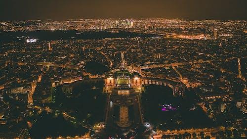 城市, 城市的燈光, 從上面, 晚上 的 免费素材照片