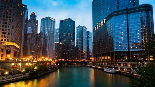 城市, 密歇根大道, 市中心, 建築 的 免费素材照片