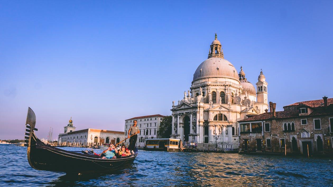 People On A Gondola