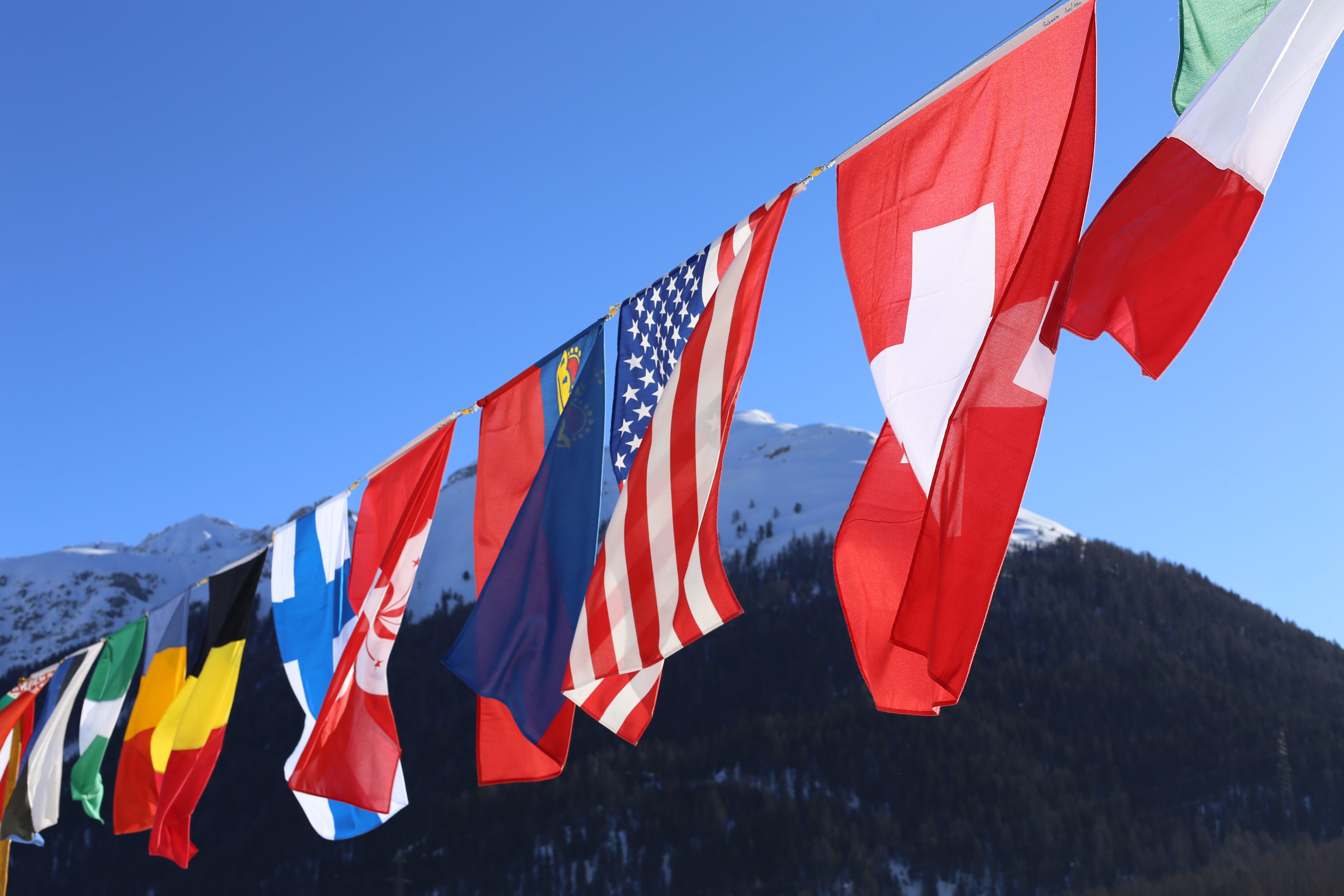 Free stock photo of america, Belgium, Finland, flags