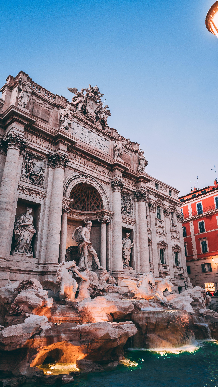 Free stock photo of fountain, rome, statue, trevi fountain