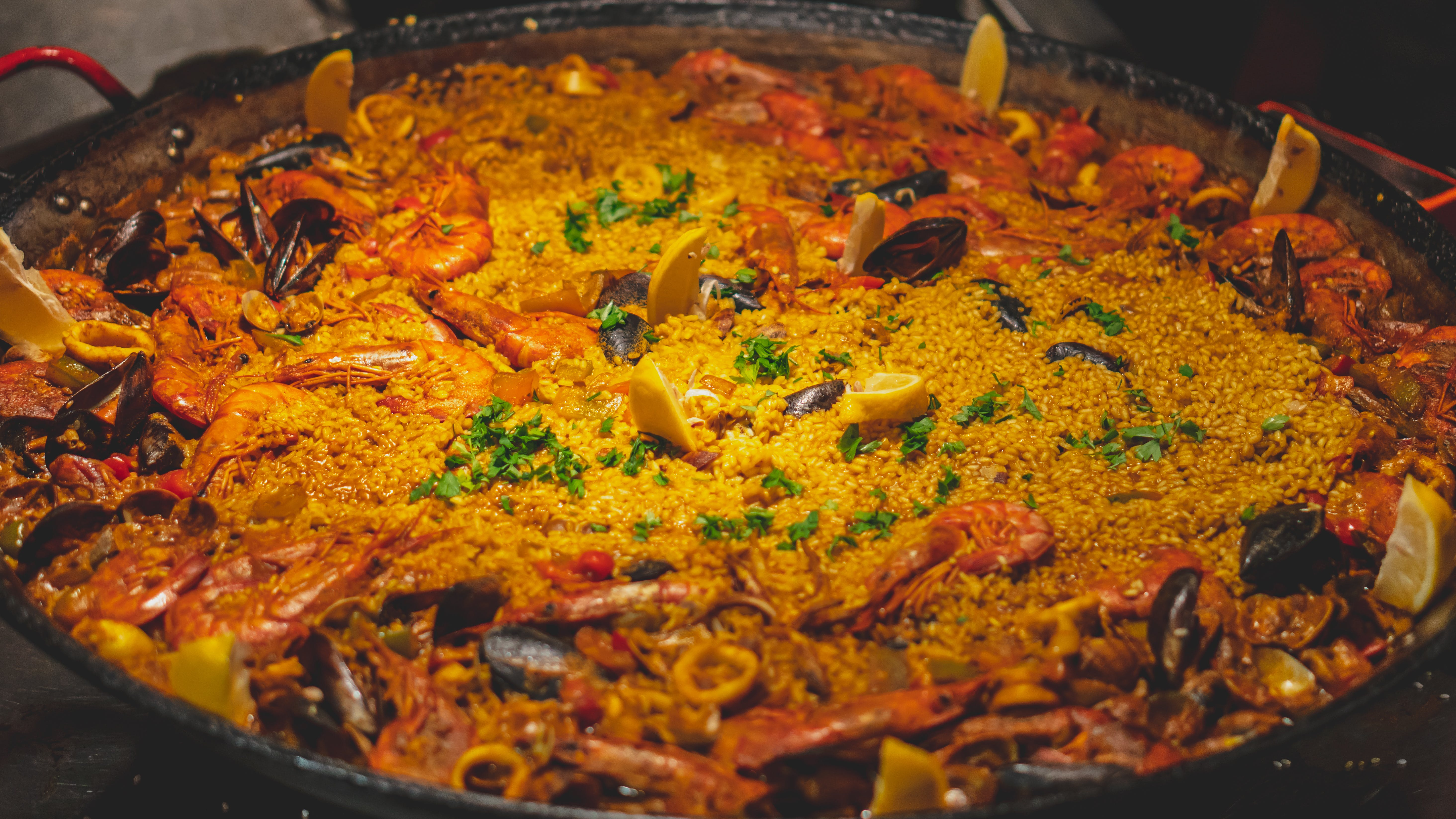 Free stock photo of cooking class, paella, spain