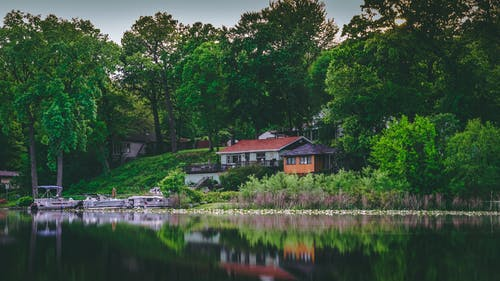 Imagine de stoc gratuită din arhitectură, armonios, calm, casa lacului