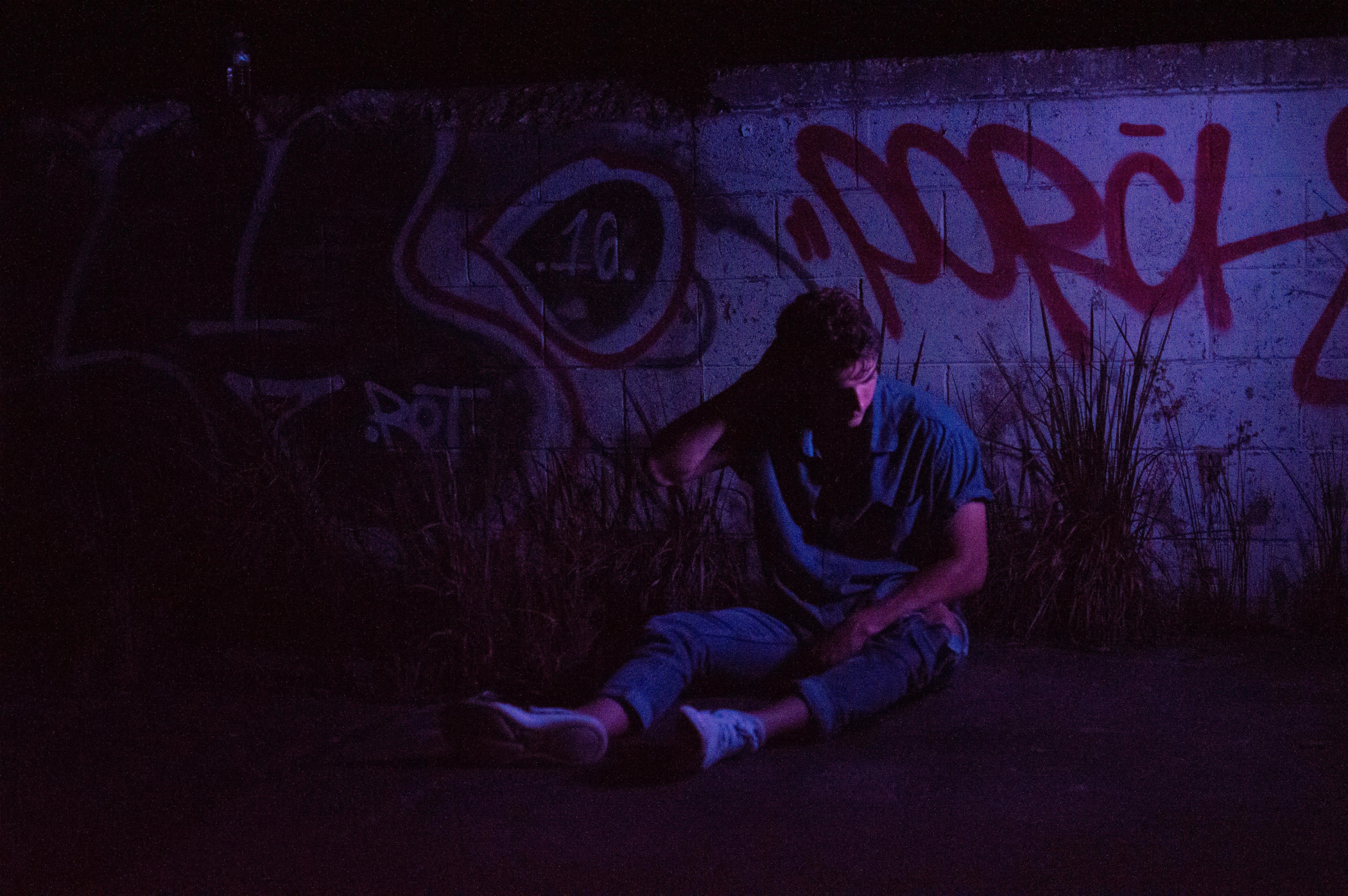 Free stock photo of color, concrete wall, graffiti, male