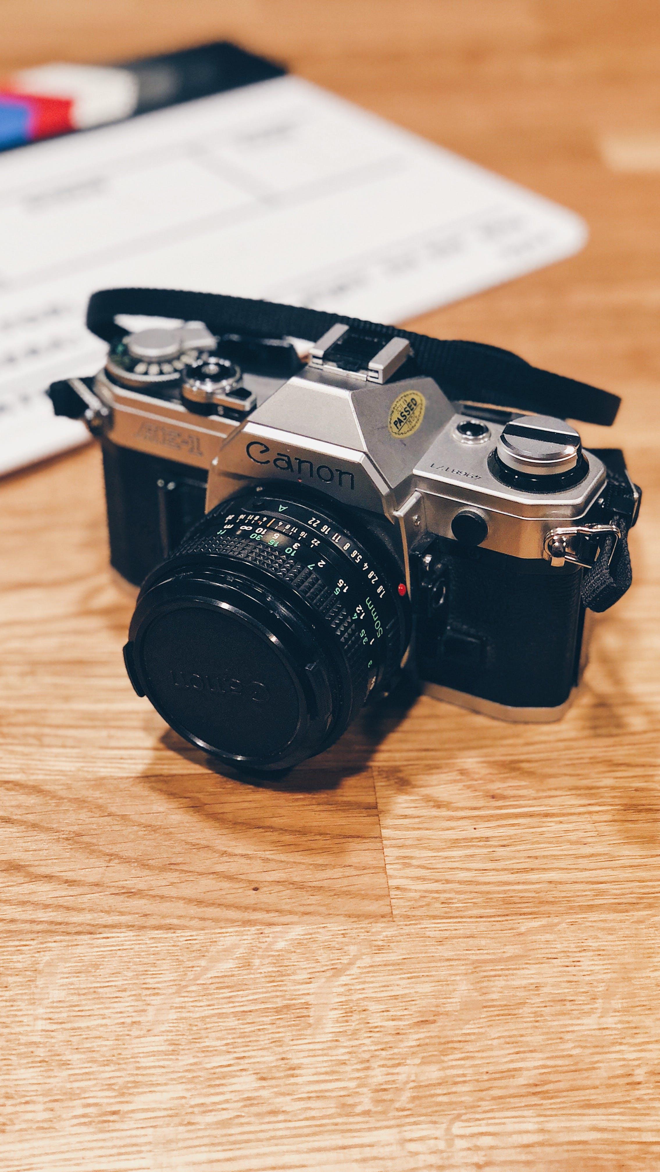 Free stock photo of camera, canon, retro, slate