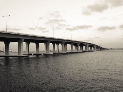White and Gray Bridge on Body of Water