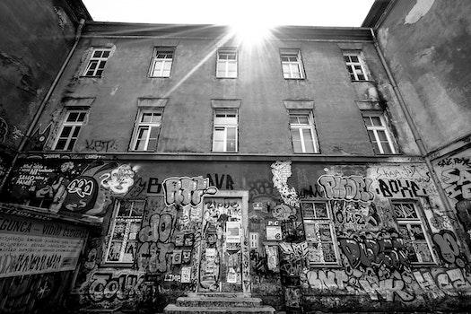 Free stock photo of city, art, street, sun