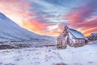 cold, snow, dawn