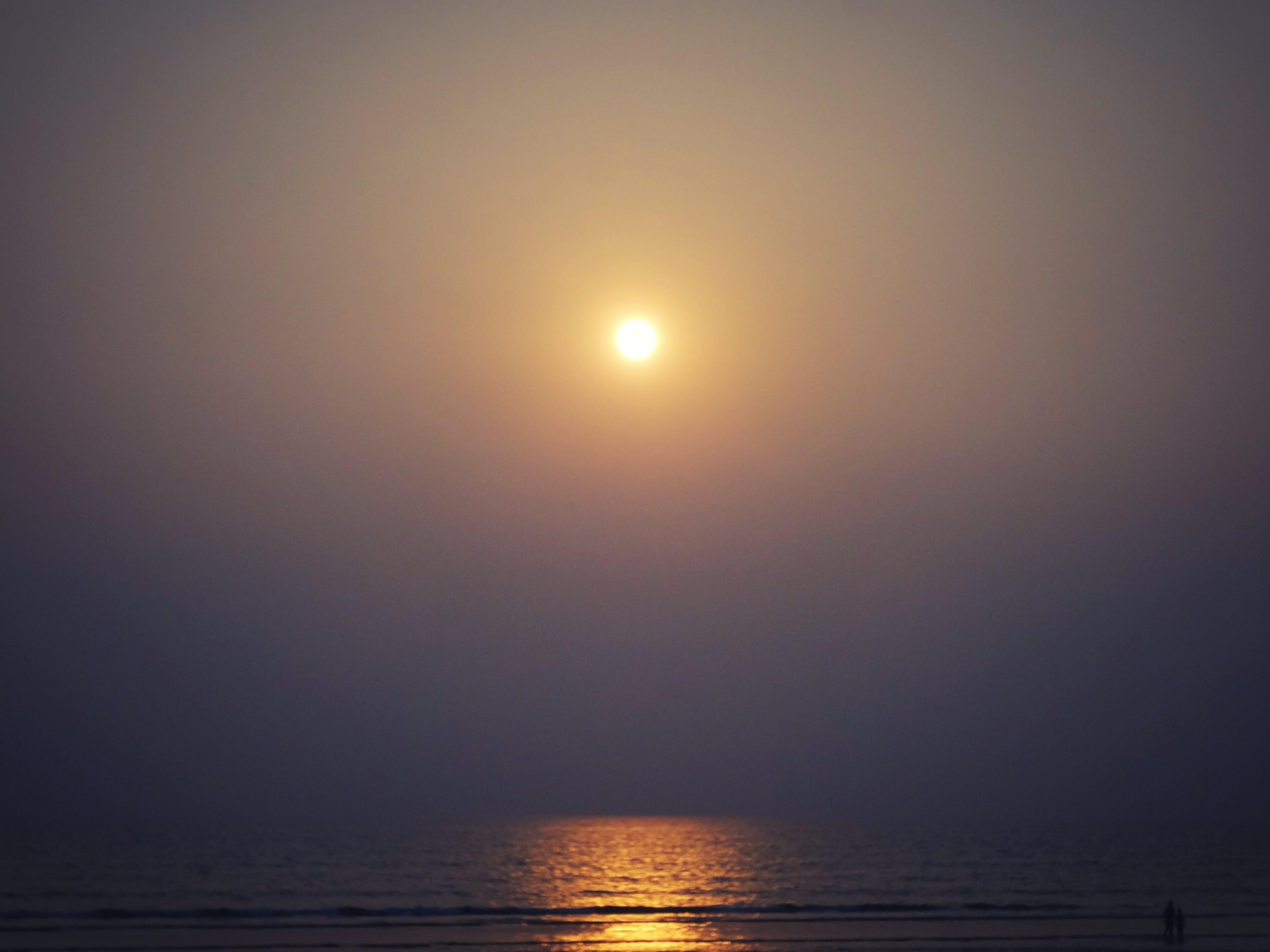 Kostenloses Stock Foto zu cox der bazar, goldene sonne, sonnenuntergang, strand