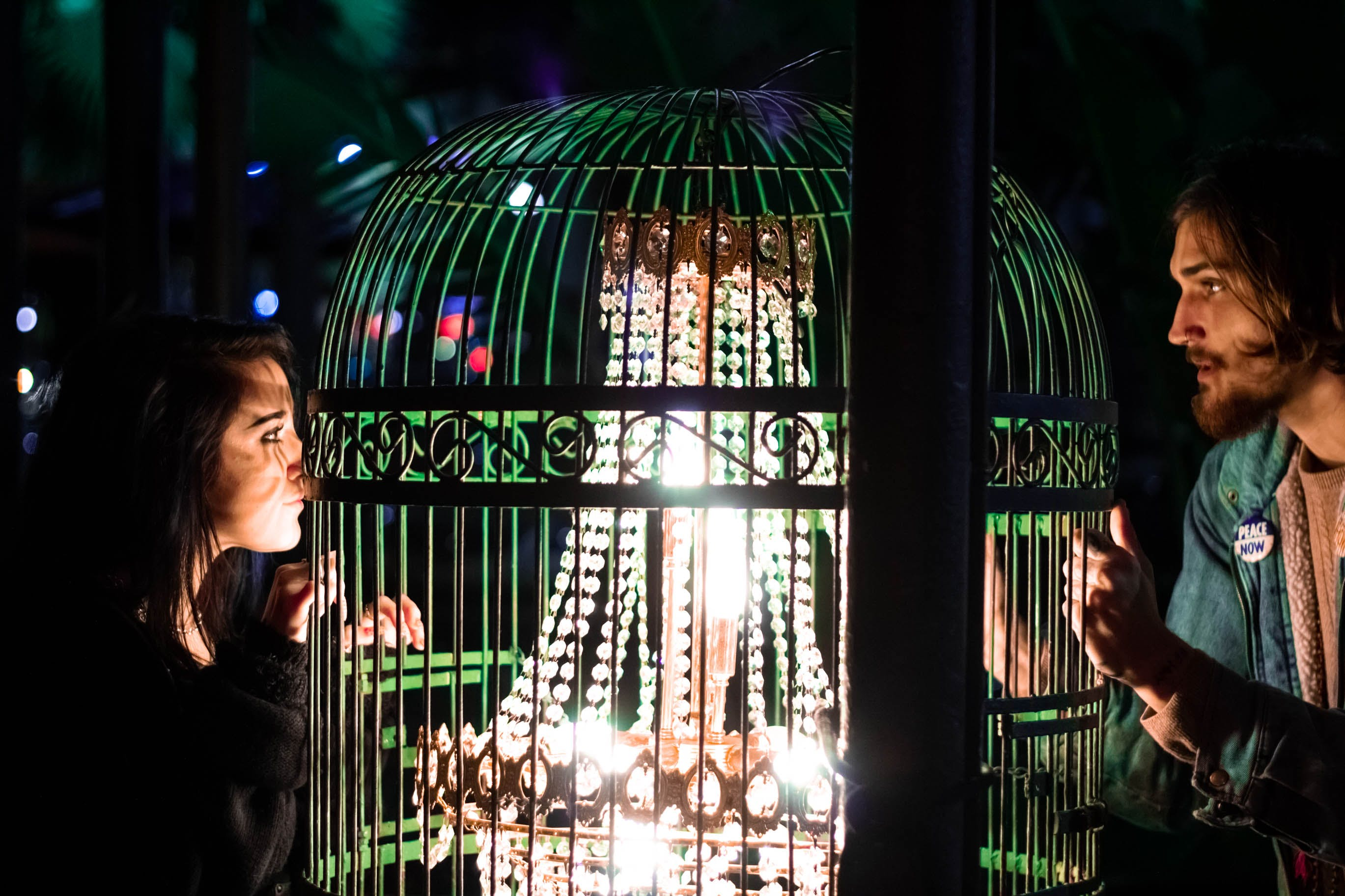 Free stock photo of birdcage, cage, chandelier, city