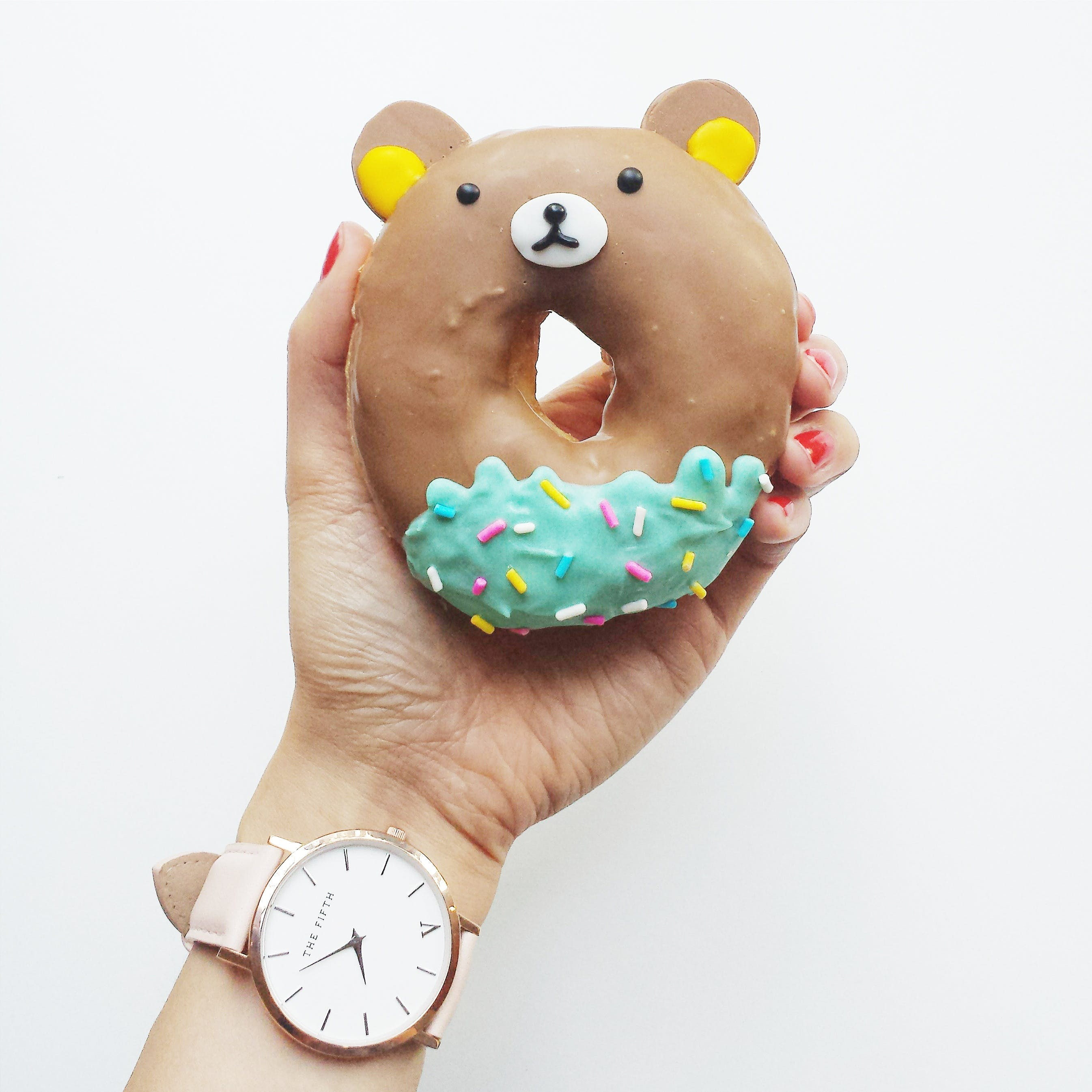Person Holding Donut