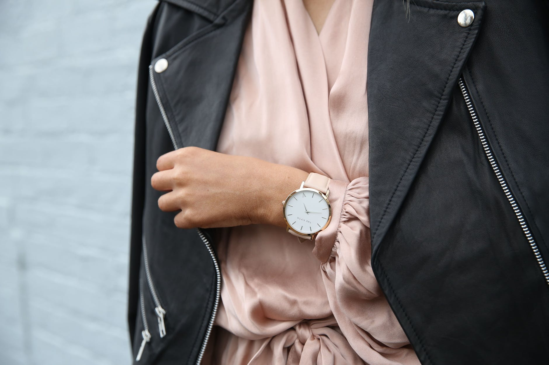 woman's hand wearing a luxury watch