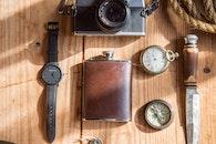 camera, wristwatch, vintage