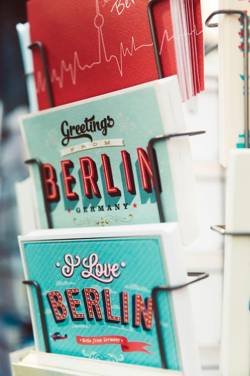 Free stock photo of berlin, book stand, books, data