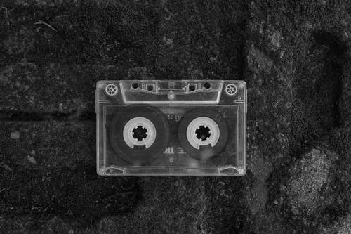 Close up photo of a Cassette