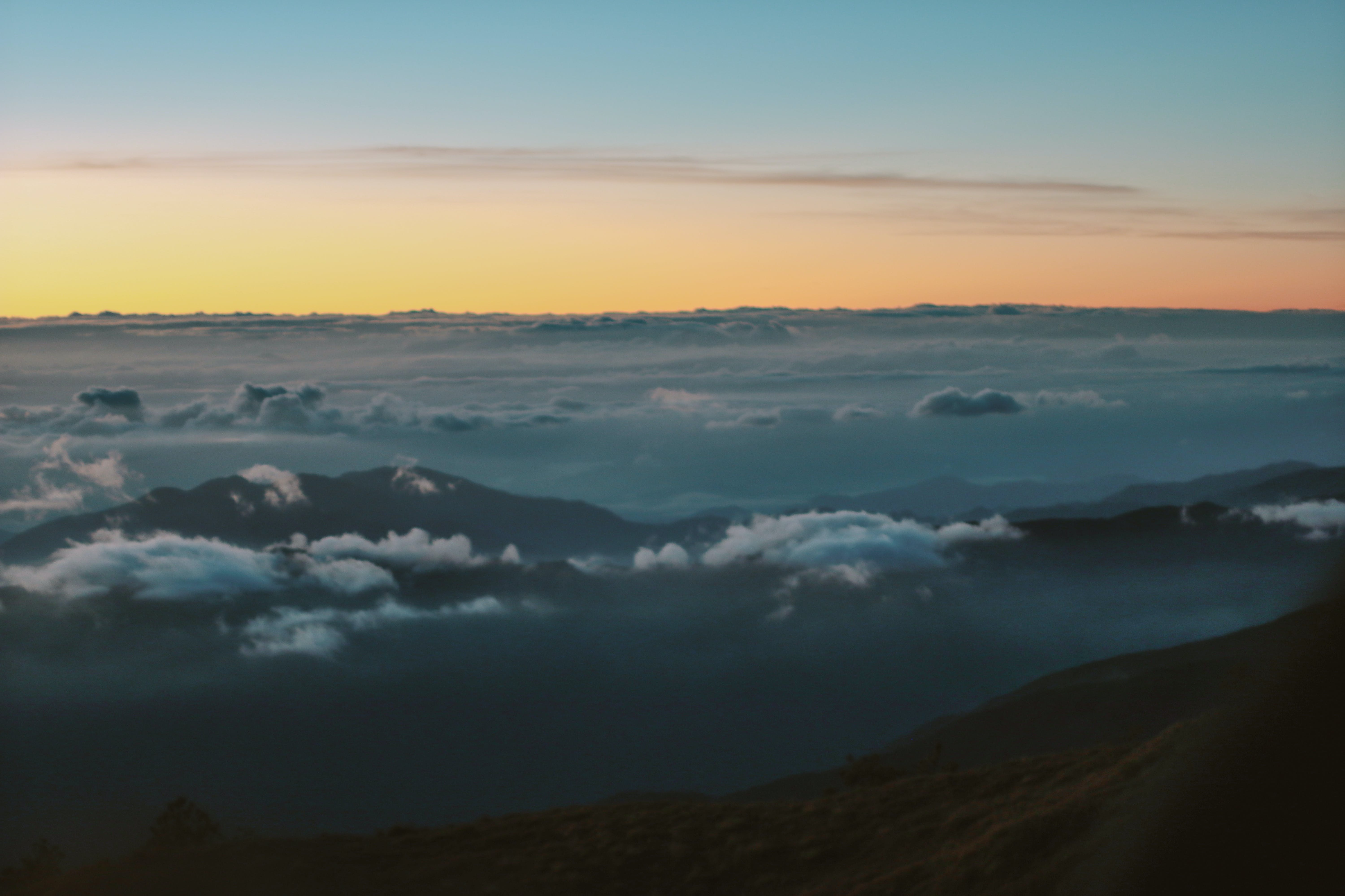 Free stock photo of mount pulag, nature, sea of clouds, sunrise