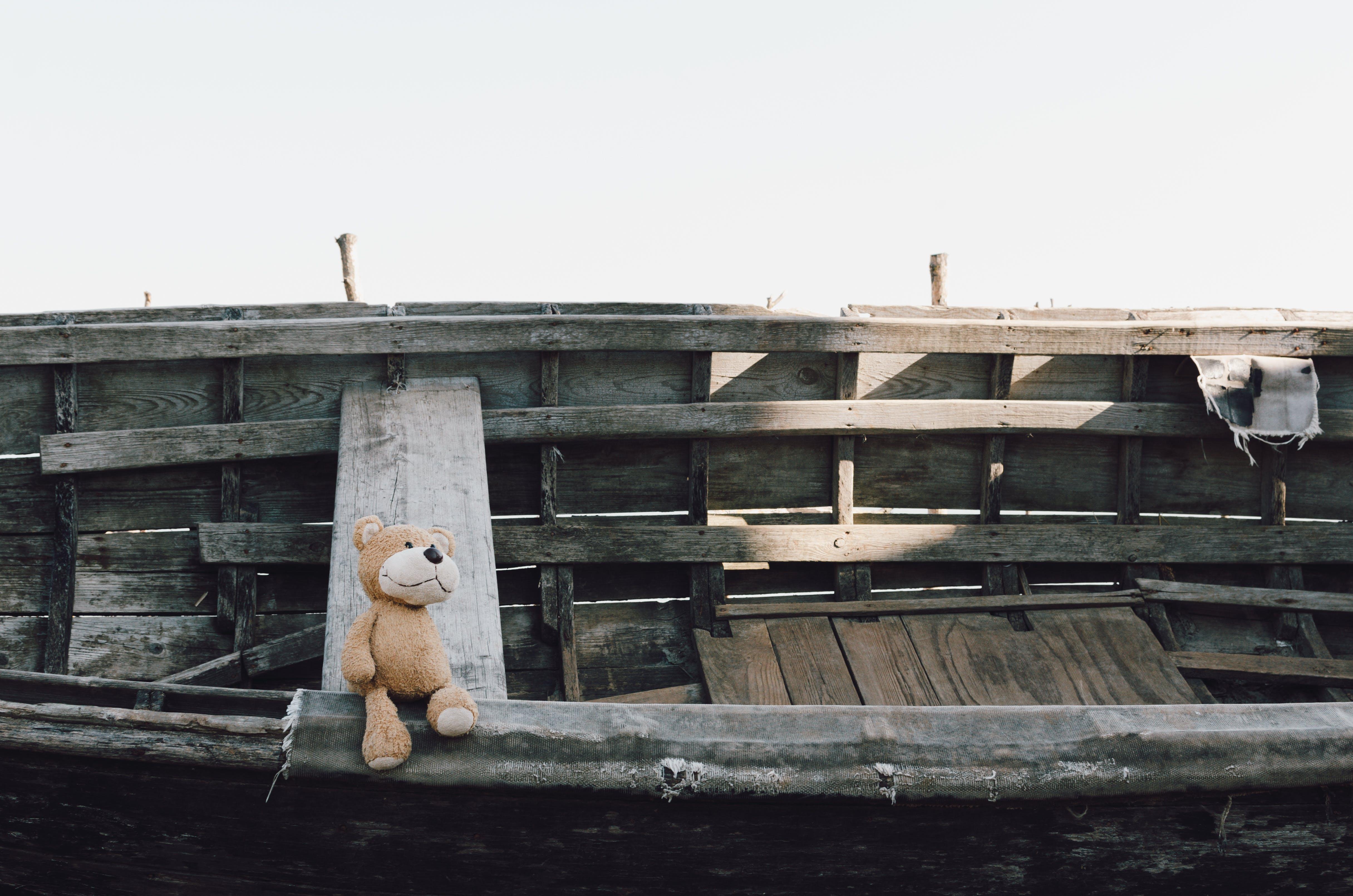 Δωρεάν στοκ φωτογραφιών με αρκουδάκι, βάρκα, βελούδινο παιχνίδι, γεμισμένο παιχνίδι