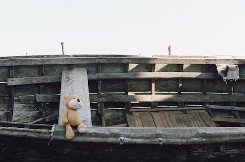 Foto d'estoc gratuïta de abandonat, animal de peluix, barca, osset de peluix