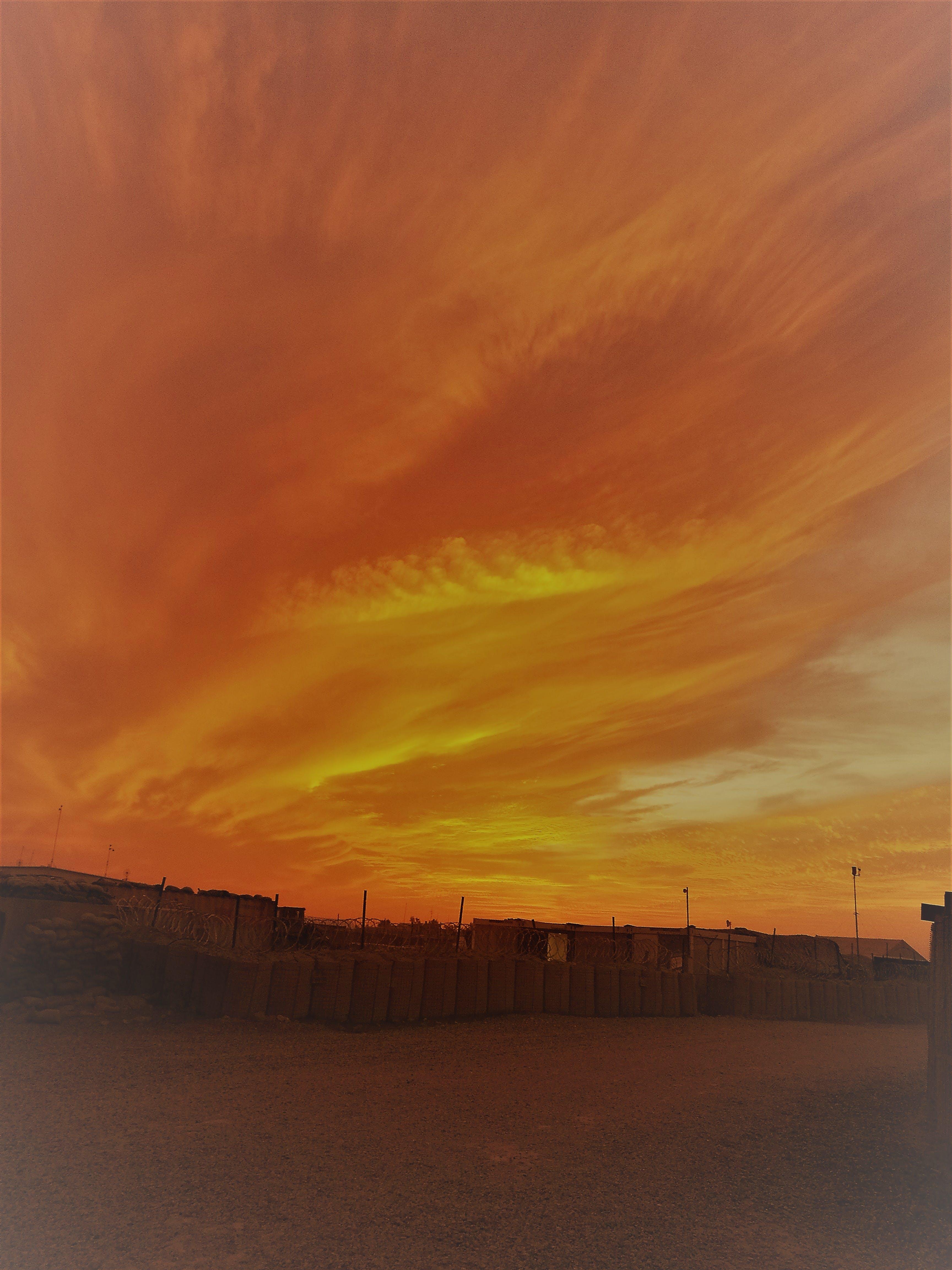 Free stock photo of desert, golden sunset, iraq, sunset